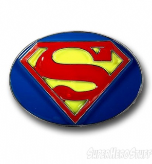 Superman Oval Belt Buckle
